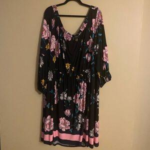 Lane Bryant On/Off Shoulder Floral MIDI Dress